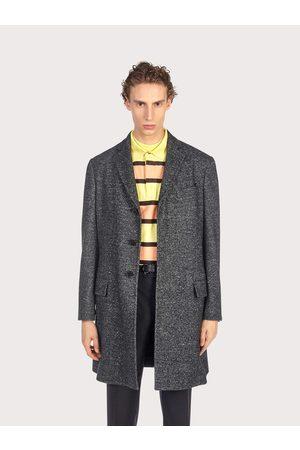 Salvatore Ferragamo Men Coats - Men Single breasted coat Grey