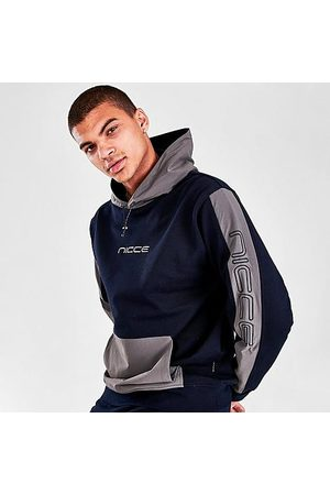 Nicce London Men's Dax Pullover Hoodie in /Deep Navy Size Small 100% Cotton