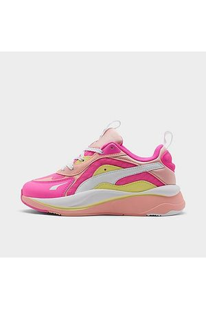 Puma Girls' Big Kids' RS-Curve Casual Shoes in / Size 4.0 Leather/Nylon