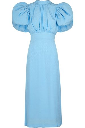ROTATE Dawn light jacquard midi dress