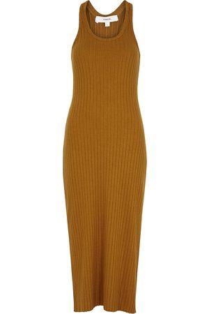Vince Women Midi Dresses - Burnt cotton-blend midi dress