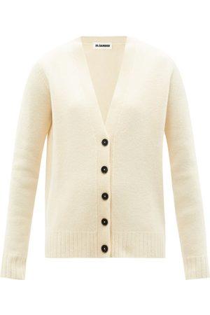 Jil Sander V-neck Wool Cardigan - Womens - Ivory