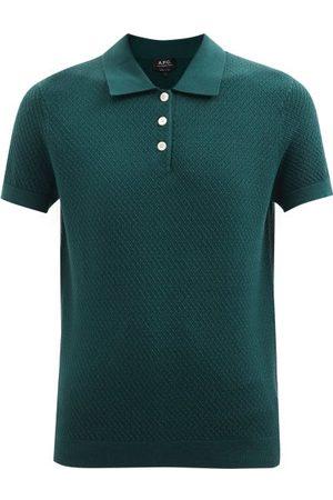 A.P.C. Women Polo Shirts - Maria Knitted Polo Shirt - Womens - Dark