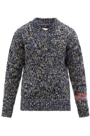 Jil Sander V-neck Marled Sweater - Mens - Multi
