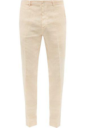 120% Lino Slim-leg Linen-calico Suit Trousers - Mens