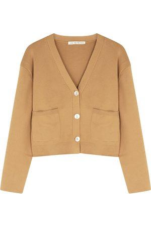 LIVE THE PROCESS Camel cotton-blend cardigan
