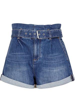 Alice + Olivia Rosemary blue denim shorts