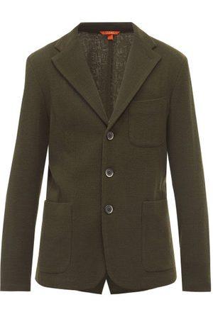 BARENA Torceo Single-breasted Wool-blend Jacket - Mens - Dark