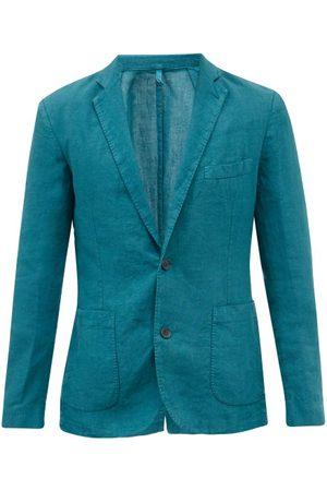 120% Lino Men Blazers - Single-breasted Linen Jacket - Mens