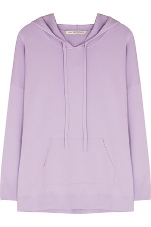 Live The Process Lilac hooded stretch-knit sweatshirt