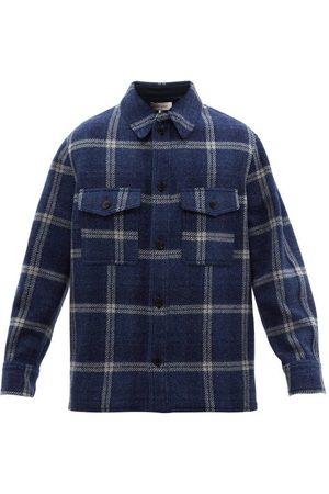 Isabel Marant Men Jackets - Gervon Checked Virgin-wool Overshirt - Mens - Multi