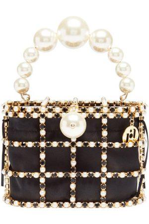 ROSANTICA Holli Faux-pearl, Crystal And Satin Cage Handbag - Womens - Multi