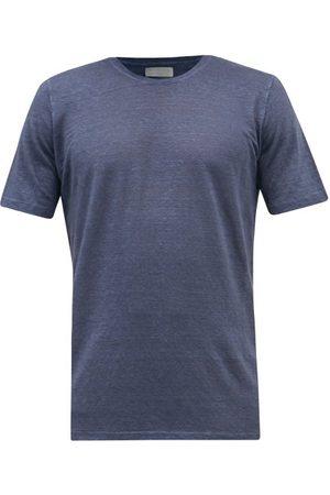 120% Lino Men T-shirts - Linen-jersey T-shirt - Mens - Navy