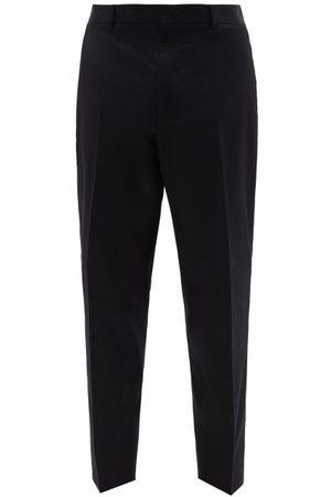 Jil Sander Cotton-gabardine Tapered-leg Trousers - Mens - Navy