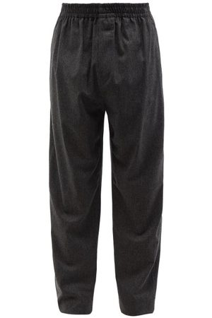 Isabel Marant Men Pants - Faileno Wool-blend Trousers - Mens - Dark Grey