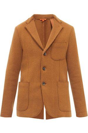 BARENA Slanega Single-breasted Slubbed Wool-blend Jacket - Mens