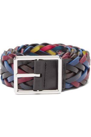 Paul Smith Reversible Braided Leather Belt - Mens - Multi