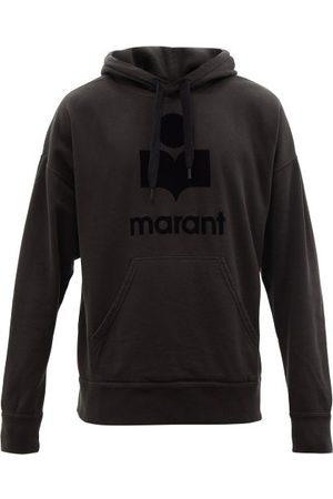 Isabel Marant Men Sweatshirts - Miley Logo-print Cotton-blend Hooded Sweatshirt - Mens