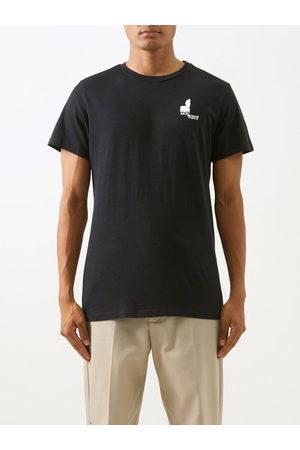 Isabel Marant Men T-shirts - Zafferh Logo-print Organic-cotton Jersey T-shirt - Mens
