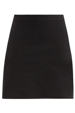 Bottega Veneta Women Mini Skirts - Godet-pleat Wool-blend Mini Skirt - Womens