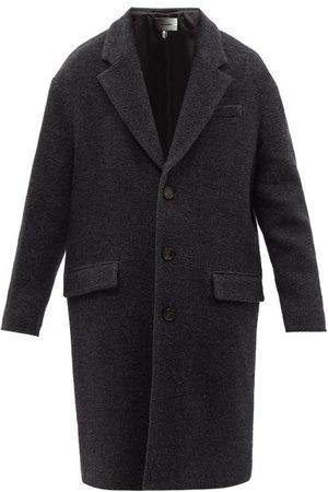Isabel Marant Men Coats - Stancer Wool-blend Coat - Mens - Dark Grey