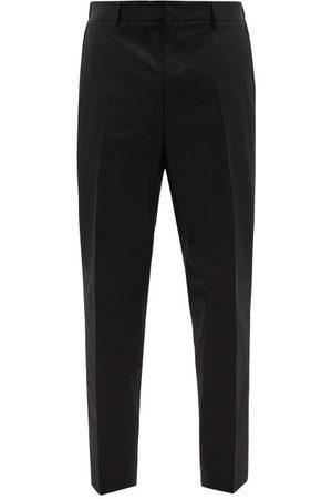 Jil Sander Men Straight Leg Pants - Cotton-gabardine Straight-leg Trousers - Mens