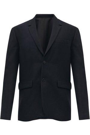 Raey Loose-fit Virgin-wool Textured Blazer - Mens - Navy