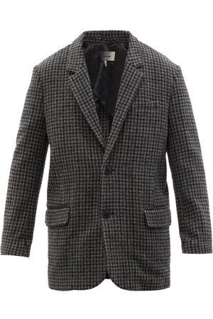 Isabel Marant Gixy Single-breasted Checked-wool Blazer - Mens - Dark Grey