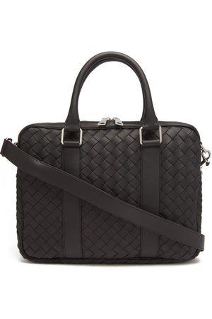 Bottega Veneta Hidrology Intrecciato-leather Briefcase - Mens