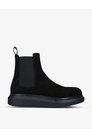 Alexander McQueen Show suede Chelsea boots