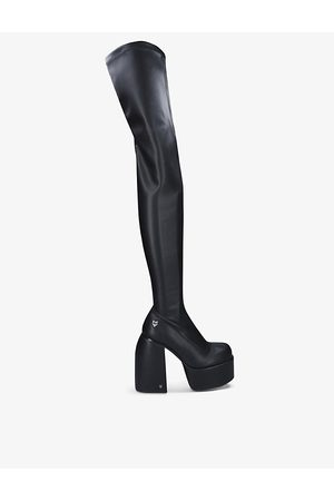Naked Wolfe Juicy faux-leather thigh-high heeled boots