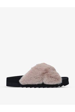 Steve Madden Amarie faux-fur sliders