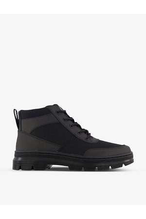 Dr. Martens Bonny Tech 5-eye leather and woven utility chukka boots