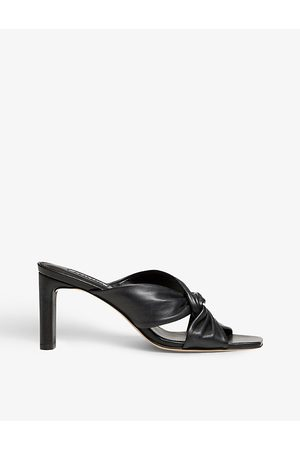 Dune Magnet twist-knot heeled leather mules
