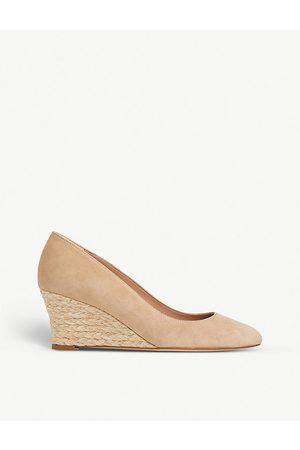 LK Bennett Women Heeled Pumps - Eevi leather wedge court shoes