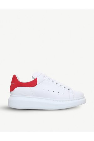Alexander McQueen And Red Show Leather Platform Sneakers