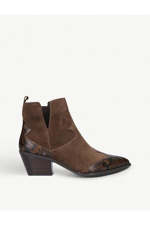 Aldo Mersey croc-embossed suede ankle boots