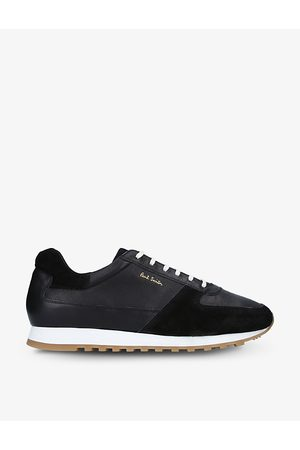 Paul Smith Velo full-grain leather and suede trainers