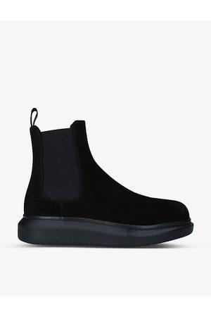 Alexander McQueen Hybrid Show suede Chelsea boots