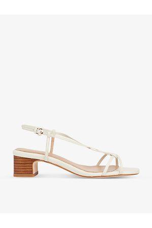 LK Bennett Sabrina braided leather heeled sandals