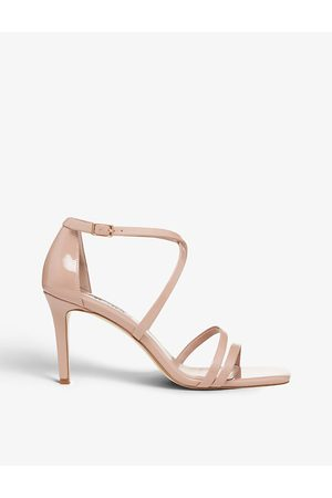Dune Musical metallic heeled faux-leather sandals