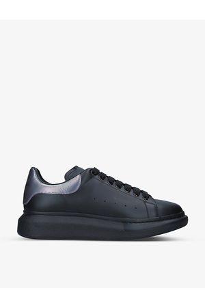 Alexander McQueen Men's Show contrast-panel leather platform trainers