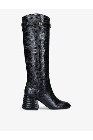 Fendi Promenade heeled crocodile-embossed leather boots