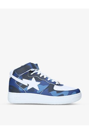 AAPE BY A BATHING APE BAPE STA camouflage-print leather mid-top trainers