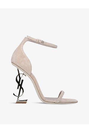 Saint Laurent Opyum 110 suede heeled sandals