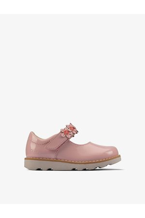 Clarks Crown Petal patent-leather shoes 0-4 years