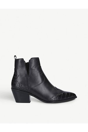 Aldo Mersey croc-embossed leather ankle boots