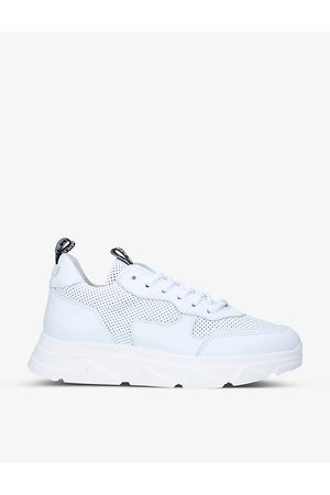 Steve Madden Pitty perforated leather platform trainers