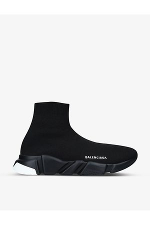 Balenciaga Men's Speed slip-on knitted mid-top trainers
