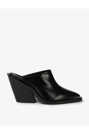 The Kooples Pointed-toe leather heeled mules